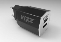 Charger Vizz VZ-28 2 Port 2.1A Micro Cable USB /Fast Charge Led
