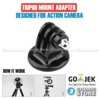 Action Cam Tripod Mount Adapter for GoPro, BRICA B-PRO & Xiaomi Yi