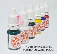Tinta Stempel Permanen Nobu Ink - Cap Plastik - Cap Expired Date 10ml