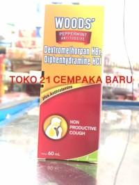 WOODS BATUK TIDAK BERDAHAK SIRUP BOTOL 60 ml | MERAH Obat Sakit Murah