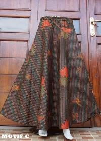 rok batik panjang bahan katun RB01 motif C
