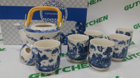 [UNIQUE] Tea Set Jepang - Teko Saringan Teh Gelas Keramik Capodimonte