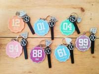 Gantungan Kunci Exo Kpop PVC Lighstick