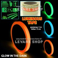 Luminous Tape Stiker Selotip Lakban Fosfor Glow in the Dark 2 x 300 cm