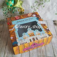 Dus Kue Lebaran 22x22 Motif Kayu / Dus kue / Packaging Kue