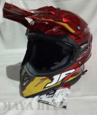 Helm JPX Full Face Cross X9 Robot Iron Man