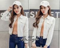 harga Xl jumbo bigsize jaket putih white polos baju outer wanita jeans denim Tokopedia.com