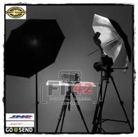 Payung Studio Hitam Reflector Black Silver Umbrella For Photo Flash.