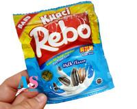Kuaci Rebo Milk Flavor Renceng / 10 bungkus
