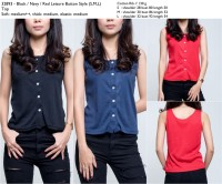 harga 32893 - black,navy,red leisure button style (s,m,l) - top Tokopedia.com