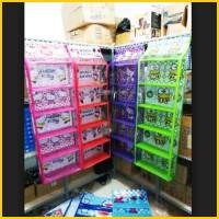 Rak TAS Gantung Susun Plastik Hanging Bag Organizer Zipper KARAKTER