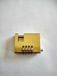 Gembok Cakram / Disc Motor Azura Kuningan Nomor 4 Digit - 50 mm