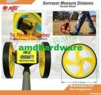Meteran Jalan / Meteran Dorong NLG Double Wheel 5 Digit PWM 9999A