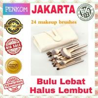 Set Kuas MakeUp 24pcs 24 pcs Tas Brush Make Up Persia Pouch Bag Case