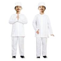 Baju Koko Putih Anak Fayrany FKP-005A usia 6 - 11 tahun