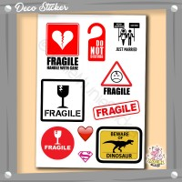 Sticker Koper - Fragile