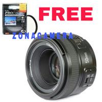 Lensa Yongnuo 50mm f1.8 For Nikon FREE Kenko Pro 1 uv