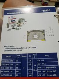 Piston Kit Fim Jupiter Bore Up Pin 13