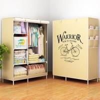 WARRIOR 2018 Multifunction Wardrobe lemari pakaian rak baju