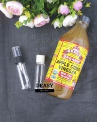 (Share in Bottle 60ml Asli) TONER Cuka Apel Bragg Apple Cider Vinegar
