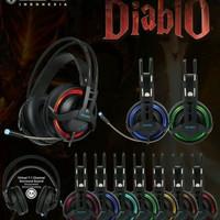 Headset Gaming Sades Diablo SA916 Provesional Gaming Headset 7.1 USB