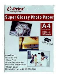 Kertas Foto Eprint Glossy 230Gsm - A4  Isi 20lembar / Photo Paper