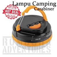 LIGHT CAMPING LAMP MAGNETIC / LAMPU TENDA CAMPING MAGNET + CARABINER