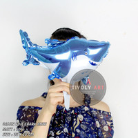 Balon Foil Shark Mini / Balon Foil Ikan Mini