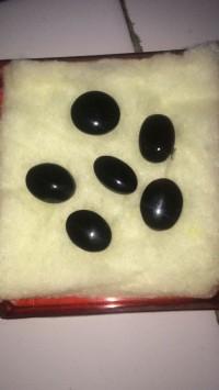 Batu Akik Yaman - Kabdhi Hitam - Ukuran 15mm - Asli Kota Tua Shona