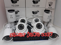 PROMO PAKET CCTV 8CHANEL AHD LENS 3MP(KMPLIT TGGL PSNG)