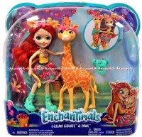 Enchantimals Gillian Giraffe & Pawl Enchatimal Doll Boneka Jerapah