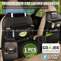 Leather Premium Auto Car Organizer Tas Jok Kulit Mobil - Hitam