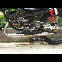 Knalpot Racing Peak Kolong 3v3 Kompetisi Kidal Cacing Chrome Rx King