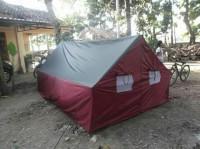 tenda pramuka 3x4 dua pintu 4jendela
