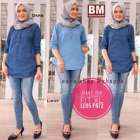 Baju Busui Jeans Wanita - Baju Menyusui- Cocok untuk Wanita Menyusui