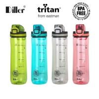 BOTOL AIR MINUM TERMOS DILLER 600 ml TRITAN BPA FREE DL003