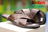 sandal pria kulit asli kickers/nike/adidas/zeintin/jepit/carvil/fladeo
