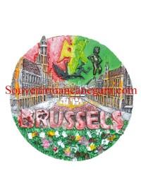 SOUVENIR BELGIA TEMPELAN MAGNET BRUSELS