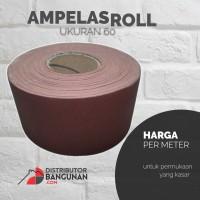 Amplas Ampelas Roll Rol Gulung Duco Kertas Gosok Grit 60 Per Meter