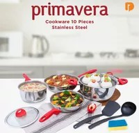 Primavera Cookware 10 Pieces Stainless Steel