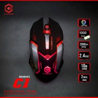 Mouse Wireless 6D Cyborg C1 (War knighs) Rechargeable with backlights