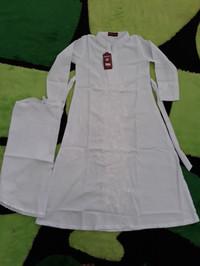 baju muslim / gamis anak perempuan warna putih untuk manasik