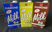 Susu Diamond UHT 1L All Varian Mix rasa | Diamon Full Cream Coklat