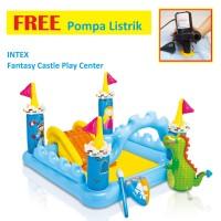 PAKET Kolam Renang Anak Kolam Main Intex 57138 Fantasy Castle Play