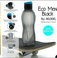 BOTTLE ECO MAN BLACK TUPPERWEAR