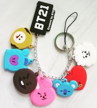 gantungan kunci strap hp bt21 all characters kpop