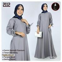 Dress muslim/Gamis baloteli polos umbrella (payung)