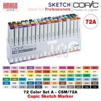 COPIC SKETCH - 72 COLOR SET A - CSM/72A