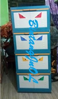 Lemari Plastik Club 4 Susun Besar Polos CMMY 4