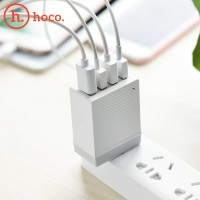 Hoco Charger 4 Port USB Charger Smart Charging for Iphone,Xiaomi,Oppo